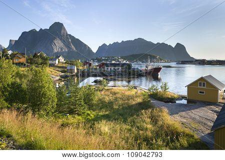 Small Fishing Port Reine, Lofoten Islands, Norway
