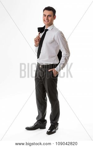 Young man in business clothes.