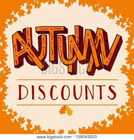 Autumn Discounts Illustration