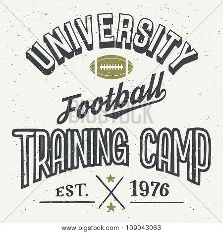 University Football Training Camp T-shirt