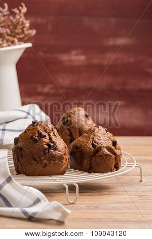 Baked Chocolate Muffins