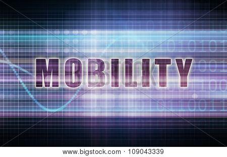 Mobility on a Tech Business Chart Art