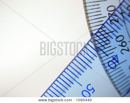 Triangle Ruler With Protractor