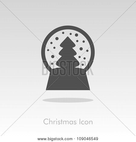 Christmas snow globe with a tree inside