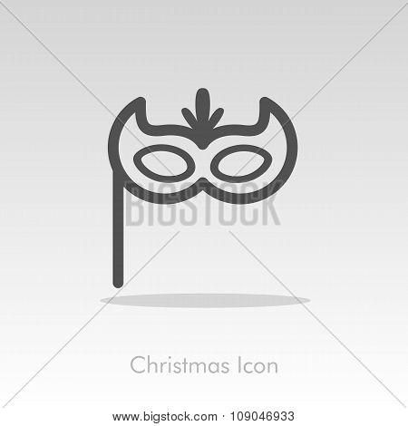 Christmas festive mask icon