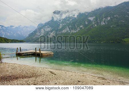 Lake Bohinj In Triglav National Park, Located In The Bohinj Valley Of The Julian Alps