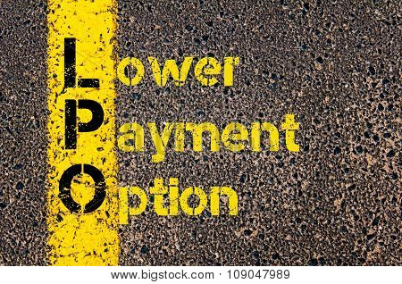 Business Acronym Lpo As Lower Payment Option