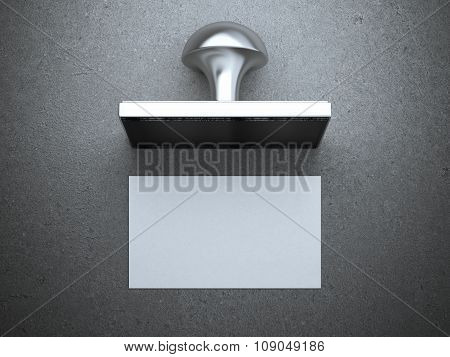 Blank business card and square seal