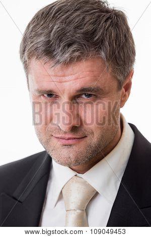 Portrait of adult businessman.