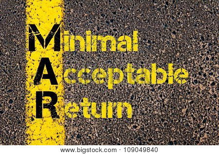 Business Acronym Mar As Minimal Acceptable Return