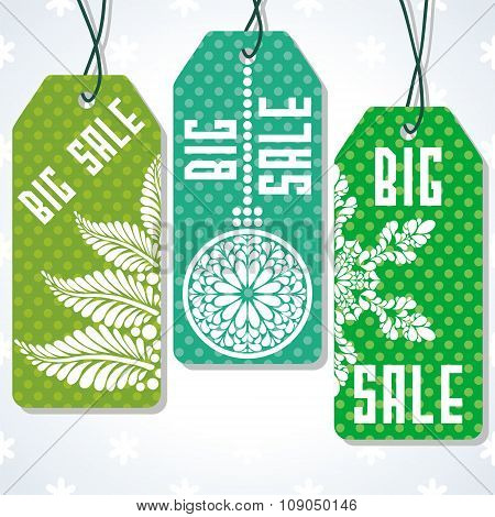Sale tags design for price