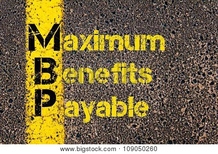 Business Acronym Mbp As Maximum Benefits Payable