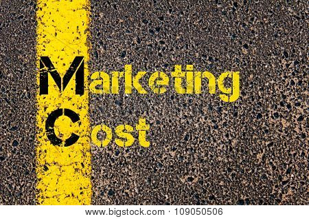 Business Acronym Mc As Marketing Cost