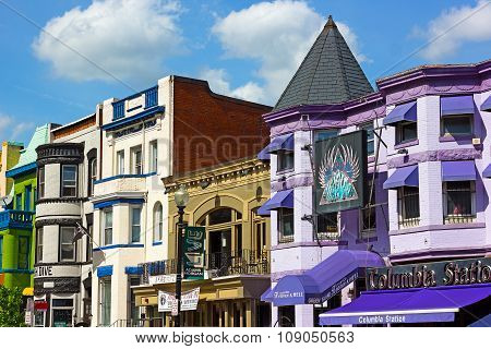 Adams Morgan suburb of US capital.