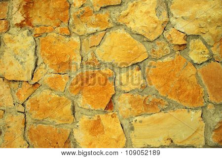 Closeup Of Textured Stone Wall