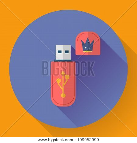 Usb flash drive web icon