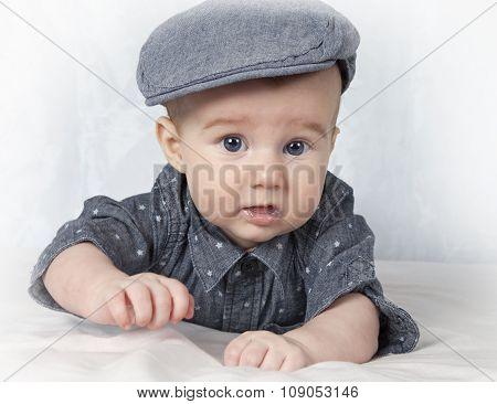 Baby Boy In Cap
