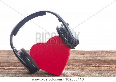 Romantic music concept