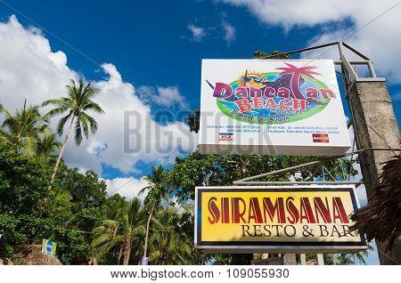 Philippine Resort Sign Board