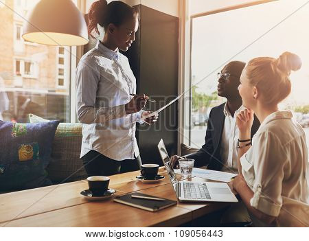 Business People At A Meeting, Small Group