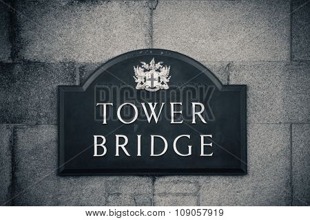 Tower Bridge London as the city landmark..