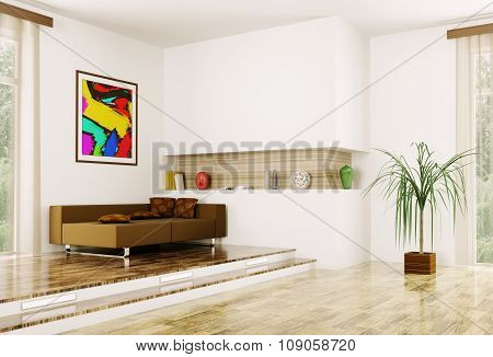 Interior Of Modern Room 3D Render