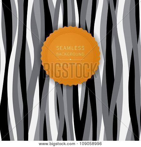Seamless Contrast Pattern With Waves.