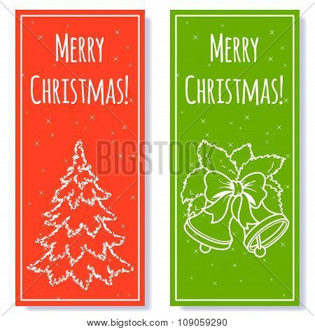 Two Christmas Vertical Banner.