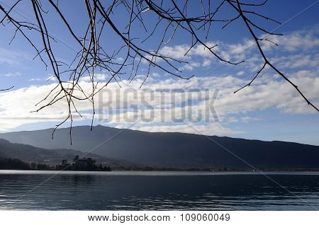 Landscape Of Annecy Lake In France