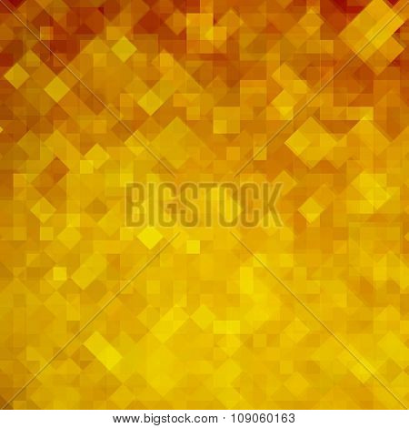 Abstract Orange Mosaic Background