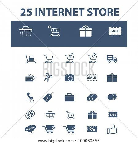 internet shopping, retail, cart, sales, store  icons, signs vector concept set for infographics, mobile, website, application