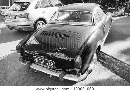 Dark Old-timer Volkswagen Karmann Ghia, Rear