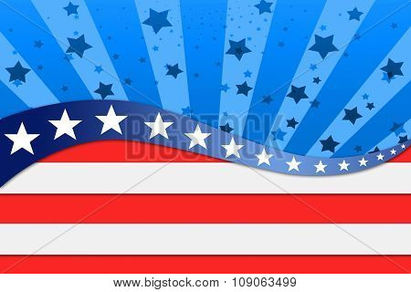 Patriotic Wave Background
