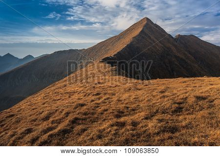 The Moldoveanu Peak In Fagaras Mountains, Romania