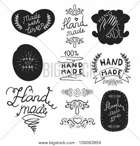 Hand Made Labels Template.