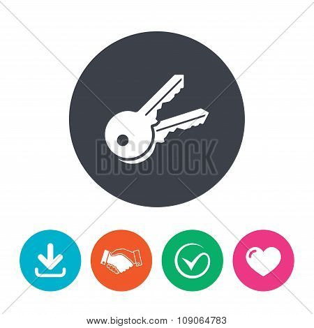 Keys sign icon. Unlock tool symbol.