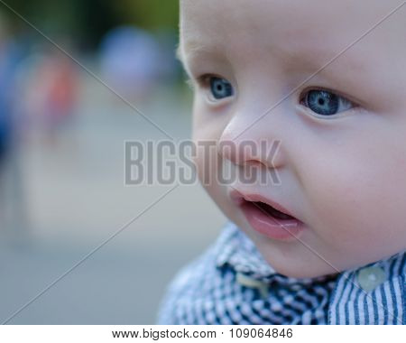 Beautiful Baby With Big Blue Eyes
