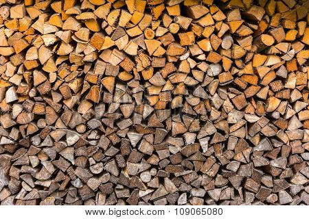 Logs Woodpile Close Up Background