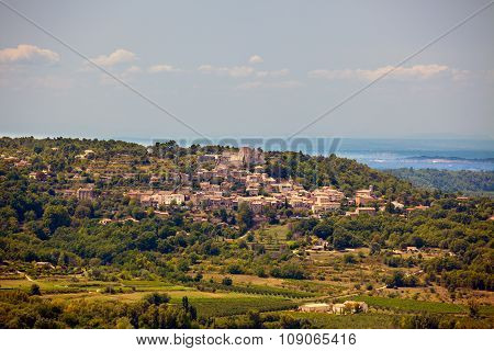 View Of A Village In Provence, Southern France