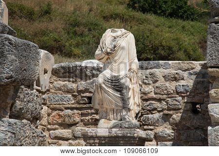 Statue In Ephesus Ancient City