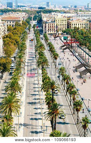 Barcelona. Columbus Boulevard.