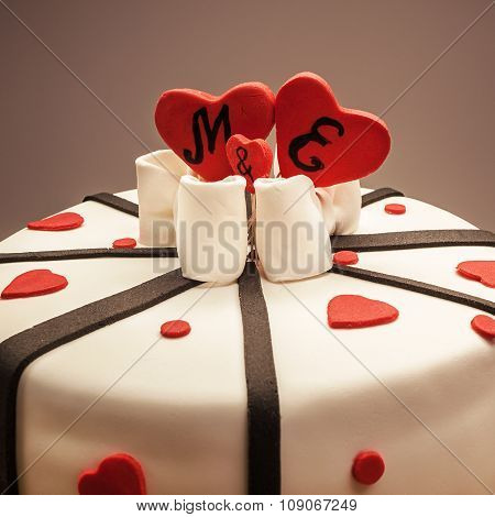 Decoration Of An Anniversary Cake