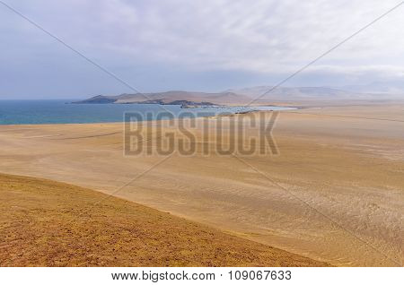 View Of The Coast In The Paracas National Reserve, Peru