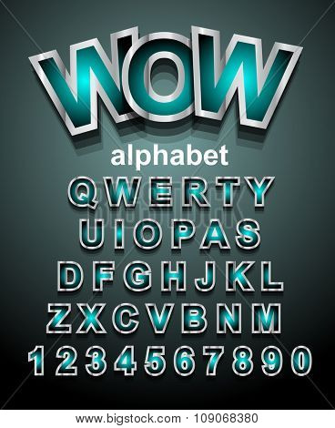 Funny Colorful Alphapet Font to use for children's parties invitations, school event posters, funny games descriptions, litttle boys brochure and so on!