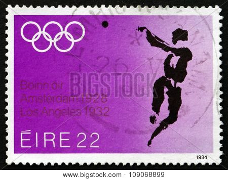 Postage Stamp Ireland 1984 Hammer Throw