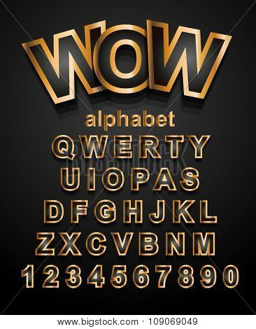 Christmas Golden Alphapet Font to use for children's parties invitations, school event posters, funny games descriptions, litttle boys brochure and so on!