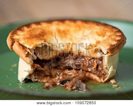 Rustic Meat And Mushroom Pie