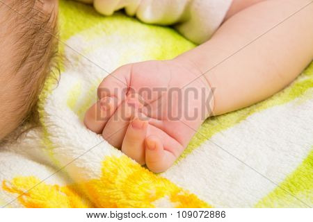 Close-up Of Palm Sleeping Baby