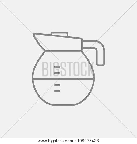Carafe line icon for web, mobile and infographics. Vector dark grey icon isolated on light grey background.