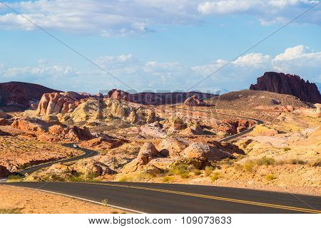 Winding Road In Valley Of Fire State Park, Nevada